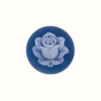 MY iMenso Lotus Agate Cameo 24mm Insignia (Blue) 24-0412