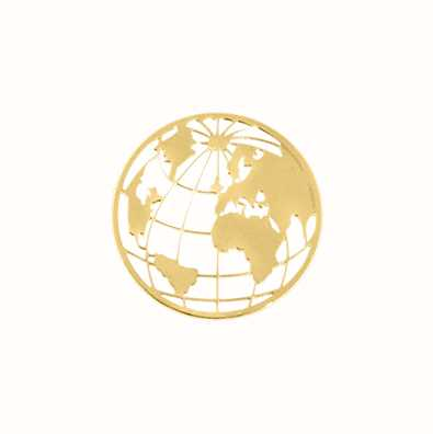MY iMenso World Cover 24mm Insignia (925/Gold-Plated) 24-0727