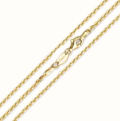 MY iMenso 925/Gold-Plated Necklace Jasseron Flat 42cm E-Coat 27-0022-42