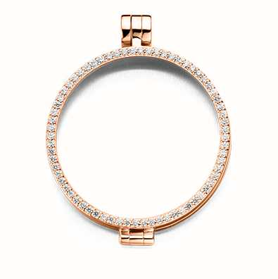 MY iMenso Medallion With Cz-Stones 33mm (925/Rosegold-Plated 33-0072