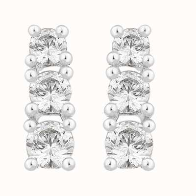 Perfection Swarovski Graduating Claw Set Trilogy Stud Earrings (0.50ct) E2367-SK