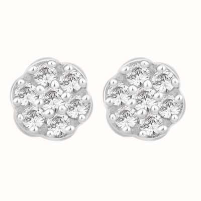 Perfection Swarovski Seven Stone Round Cluster Stud Earrings (0.75ct) E2488-SK