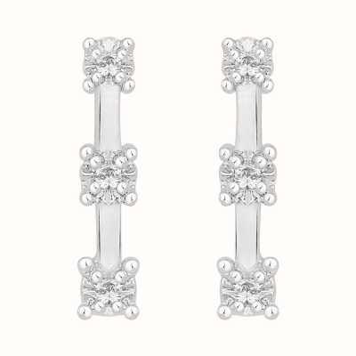 Perfection Crystals Graduating Trilogy Bar Studs (0.05ct) E2588-SK