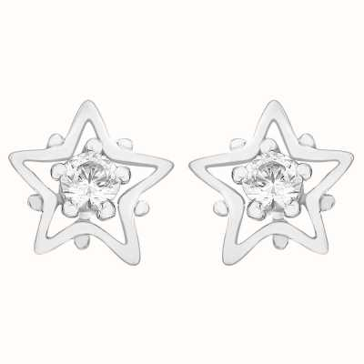 Perfection Swarovski Single Stone Stud Earrings in Star Mount (0.10ct) E2681-SK