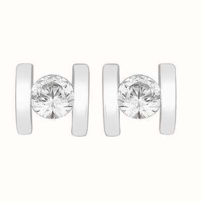 Perfection Crystals Single Stone Bar Set Stud Earrings (0.20ct) E3254-SK