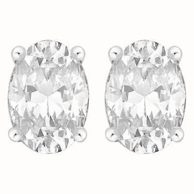 Perfection Swarovski Single Stone Claw Set Oval Stud Earrings (1.50ct) E3943-SK