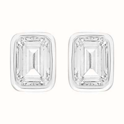 Perfection Swarovski Single Stone Rubover Emerald Stud Earrings (2.00ct) E4037-SK