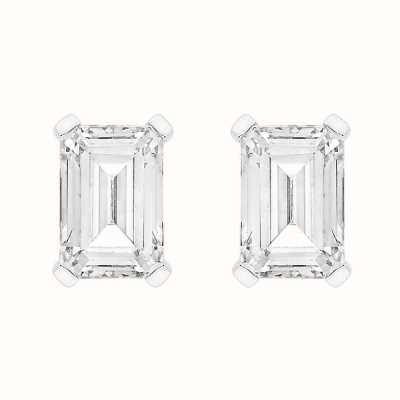 Perfection Crystals Single Stone Claw Set Emerald Stud Earrings (1.00ct) E4046-SK