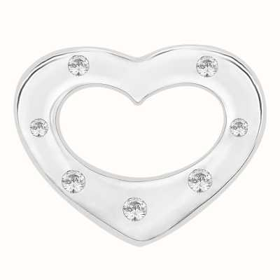 Perfection Swarovski Seven Stone Heart Pendant (0.05ct) P3315-SK