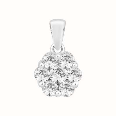 Perfection Crystals Seven Stone Round Cluster Pendant (0.45ct) P3665-SK