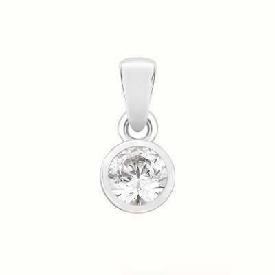 Perfection Crystals Single Stone Rubover Set Pendant (0.25ct) P4551-SK