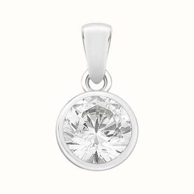 Perfection Crystals Single Stone Rubover Set Pendant (1.00ct) P4554-SK