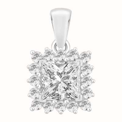 Perfection Crystals Princess Cut Pendant With Surround (1.15ct) P5488-SK