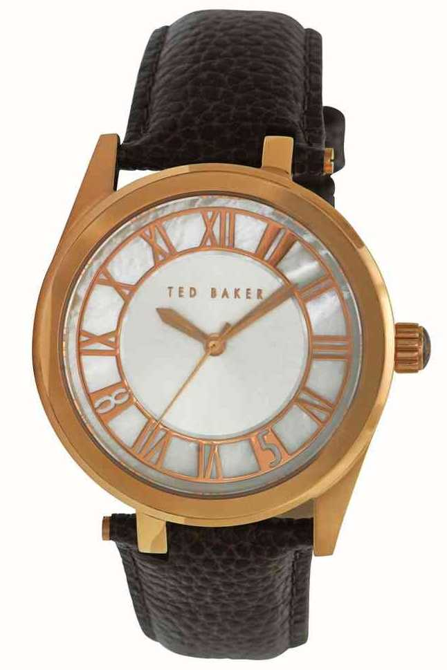 b12d23cd6b7e25 Ted Baker Mens Gold Brown Strap Watch TE1079 - First Class Watches™ AUS