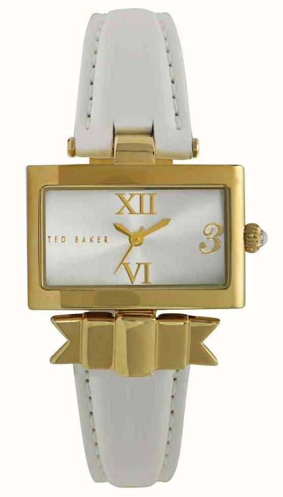 4d976581989b8c Ted Baker Womens White Gold Strap Watch TE2077 - First Class Watches ...