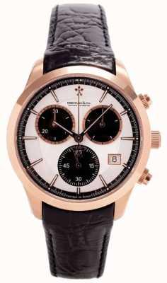 Dreyfuss Mens Rose Gold Chronograph Leather Strap DGS00063/06