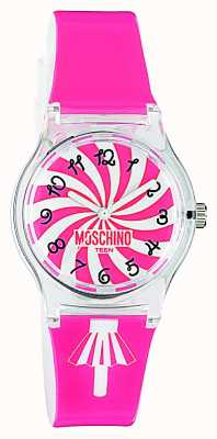 Moschino Womens Pink Strap Watch MW0321