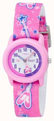 Timex Kids Pink Ballerina Analogue Strap Watch T7B151