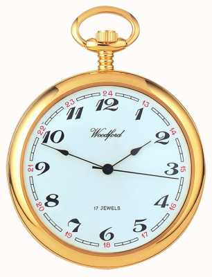 Woodford Arabic Gold-Plated White Dial Mechanical Pocket Watch 1031