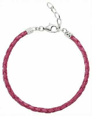 Chamilia One Size Pink Metallic Braided Leather Bracelet 1030-0112