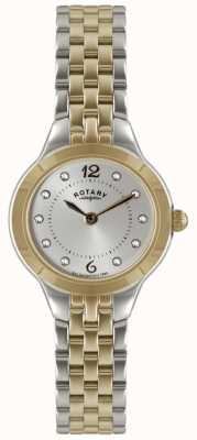 Rotary Ladies' Two Tone Watch With Stone Set LB02762/59