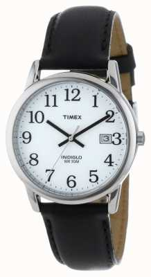 Timex Mens White Black Easy Reader Watch T2H281