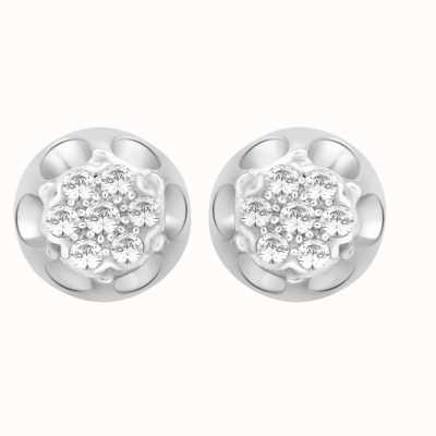 Perfection Swarovski Antique Cluster Stud Earrings (0.25ct) E2124-SK
