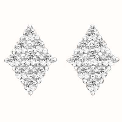 Perfection Swarovski Diamond Shaped Cluster Stud Earrings (0.50ct) E2178-SK