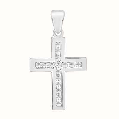Perfection Crystals Channel Set Cross Pendant (0.25ct) P3102-SK