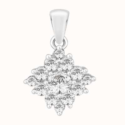 Perfection Crystals Diamond Shaped Cluster Pendant (0.75ct) P4629-SK
