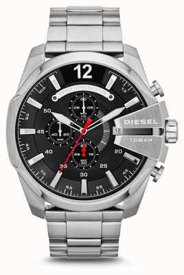 Diesel Mens Mega Chief Stainless Steel Black Dial Watch DZ4308
