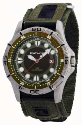 Kahuna Kahuna Mens Green Fabric Strap Watch K5V-0003G