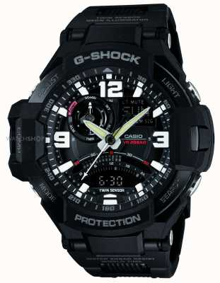 Casio Mens Sky Cockpit Black Resin Case GA-1000FC-1AER