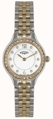 Rotary Womens Two Tone, Crystal Watch LB02868/01