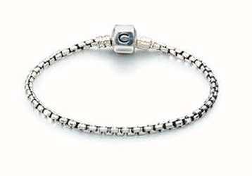 Chamilia Silver Box Chain Bracelet - Oxidized (20 cm/7.9 in) 1012-0117