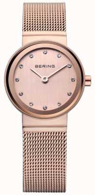 Bering Rose Gold Classic Mesh Watch 10122-366