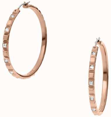 DKNY Ladies Urban Essentials Rose Gold Tone Earrings NJ2115791