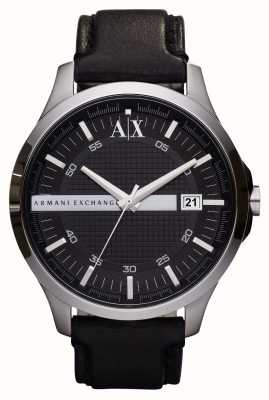 Armani Exchange Men's Date Leather Strap Watch AX2101