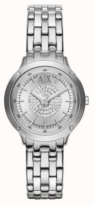 Armani Exchange Crystal Bracelet Strap Watch AX5415