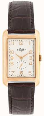 Rotary Portland Mens Rose Tone Dress Watch GS02699/01