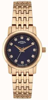 Rotary Womens Rose Gold Blue Dial LB02462/05