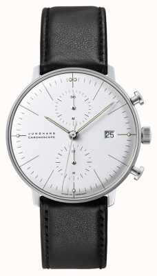 Junghans Max Bill Chronoscope | Automatic | Black Leather Strap 027/4600.04