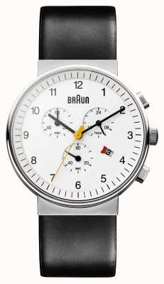 Braun Unisex Classic Chronograph Watch BN0035WHBKG
