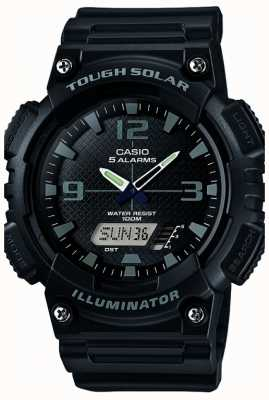 Casio Mens Five Alarm Solar Powered Illuminator Black AQ-S810W-1A2VEF