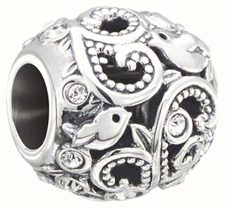 33e9ad6756a39 Chamilia Charms Flourish - Birds and Vines - Sterling Silver with Swarovski  Crystal