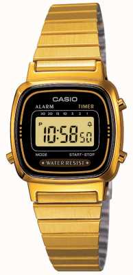 Casio Womens Digital Bracelet Retro Gold Plated LA670WEGA-1EF