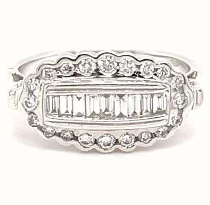 18ct White Gold Diamond Cluster Ring JM4721