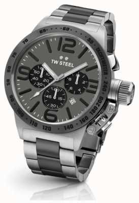 TW Steel Mens Canteen 45mm Chrono Two Tone Grey Dial CB203