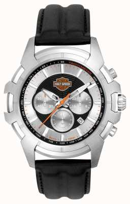 Harley Davidson Mens Black And Silver Spider Web Design 76B161