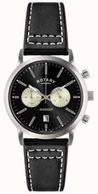 Rotary Mens Avenger Black Leather Strap Chrono GS02730/04